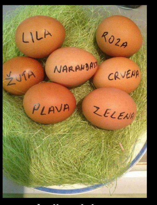 Kako Tetke farbaju jaja